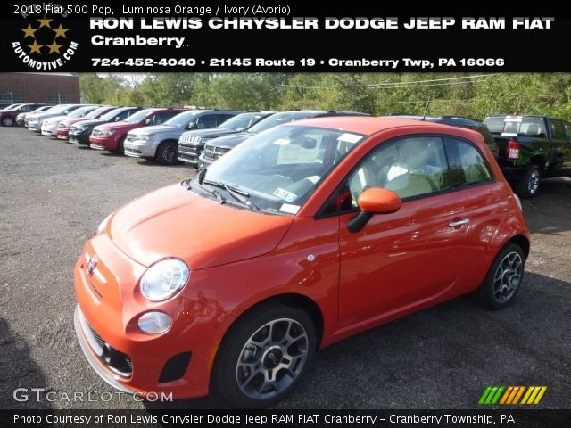 2018 Fiat 500 Pop in Luminosa Orange