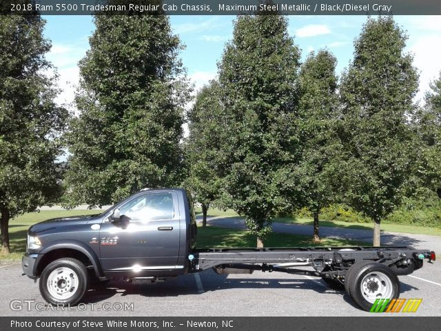2018 Ram 5500 Tradesman Regular Cab Chassis in Maximum Steel Metallic