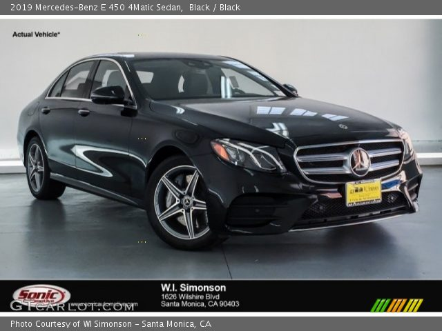 2019 Mercedes-Benz E 450 4Matic Sedan in Black