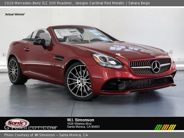 2019 Mercedes-Benz SLC 300 Roadster in designo Cardinal Red Metallic