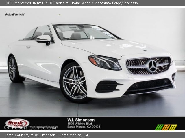 2019 Mercedes-Benz E 450 Cabriolet in Polar White