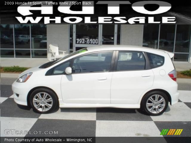 Taffeta White 2009 Honda Fit Sport with Sport Black interior 2009 Honda Fit