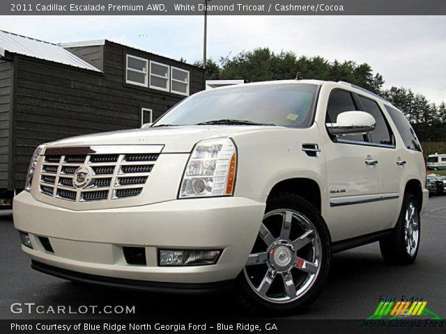 2011 Cadillac Escalade Premium AWD in White Diamond Tricoat