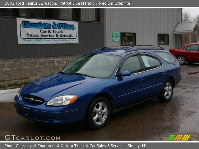 2003 Ford Taurus SE Wagon in Patriot Blue Metallic. Click to see large ...