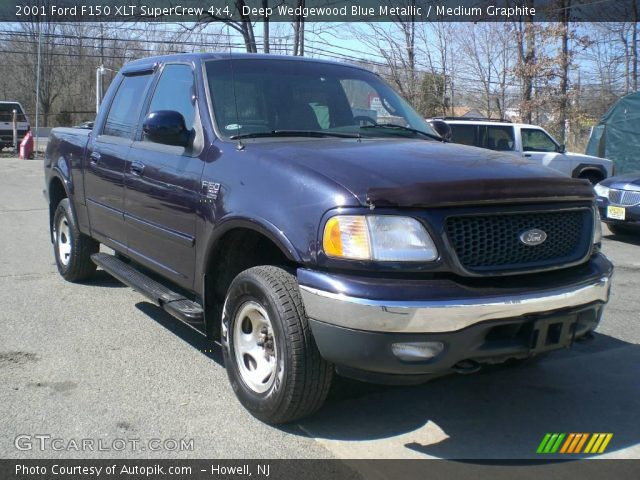 deep wedgewood blue metallic 2001 ford f150 xlt supercrew 4x4 with. Cars Review. Best American Auto & Cars Review
