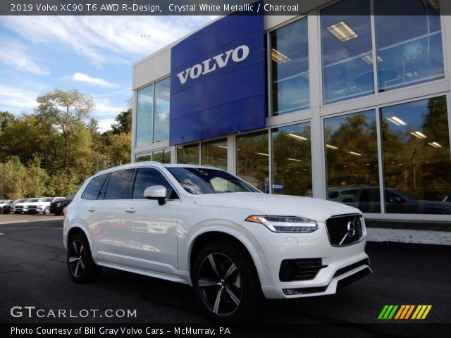 2019 Volvo XC90 T6 AWD R-Design in Crystal White Metallic