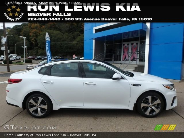 2019 Kia Optima S in Snow White Pearl