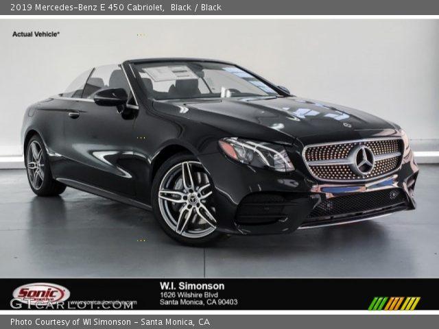 2019 Mercedes-Benz E 450 Cabriolet in Black