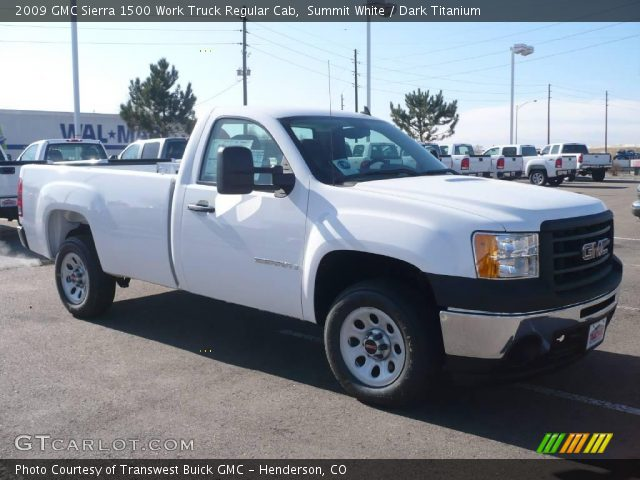 2009 GMC Sierra 1500 Work Truck Regular Cab in Summit White