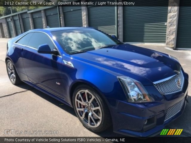 2012 Cadillac CTS -V Coupe in Opulent Blue Metallic