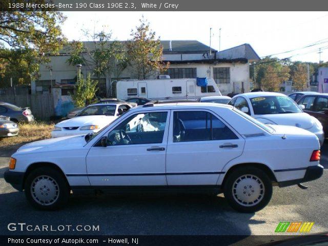 White 1988 mercedes benz 190 class 190e 2 3 grey for 1988 mercedes benz 190e
