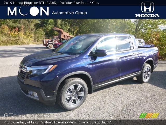 2019 Honda Ridgeline RTL-E AWD in Obsidian Blue Pearl