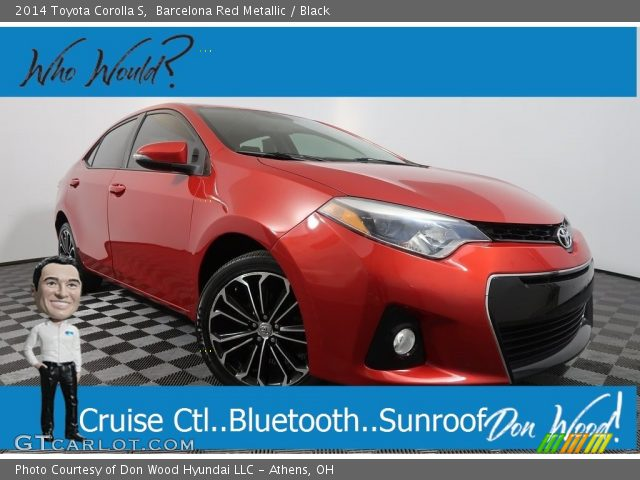 2014 Toyota Corolla S in Barcelona Red Metallic