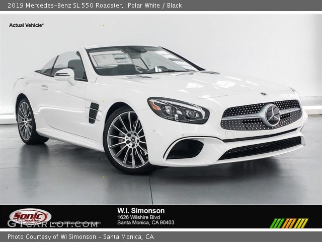 2019 Mercedes-Benz SL 550 Roadster in Polar White