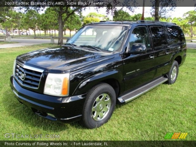 2003 Cadillac Escalade ESV AWD in Sable Black