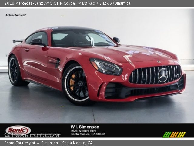 2018 Mercedes-Benz AMG GT R Coupe in Mars Red