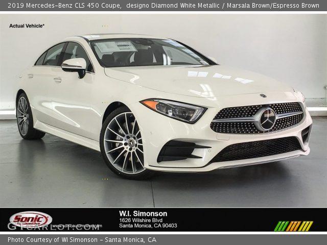 2019 Mercedes-Benz CLS 450 Coupe in designo Diamond White Metallic