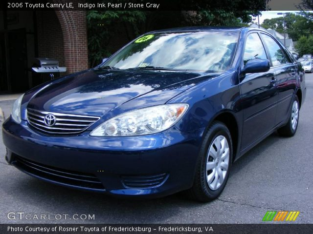 indigo ink pearl 2006 toyota camry le stone gray interior vehicle archive. Black Bedroom Furniture Sets. Home Design Ideas