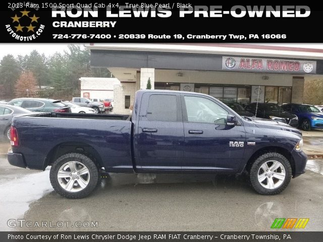 2013 Ram 1500 Sport Quad Cab 4x4 in True Blue Pearl