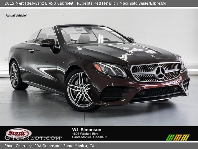 2019 Mercedes-Benz E 450 Cabriolet in Rubellite Red Metallic
