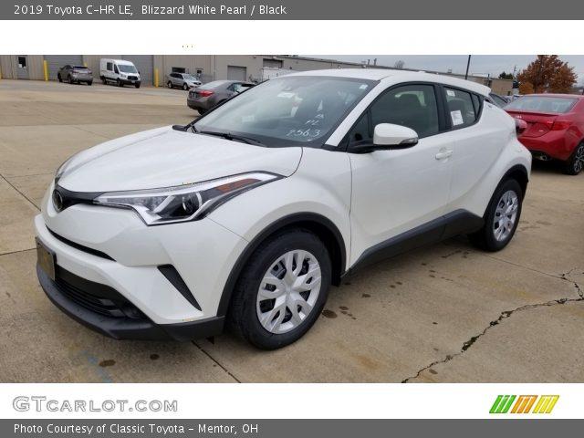 2019 Toyota C-HR LE in Blizzard White Pearl