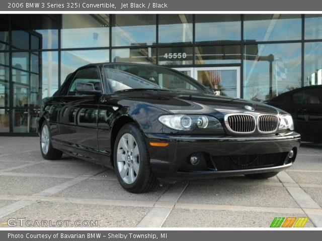 2006 BMW 3 Series 325i Convertible in Jet Black