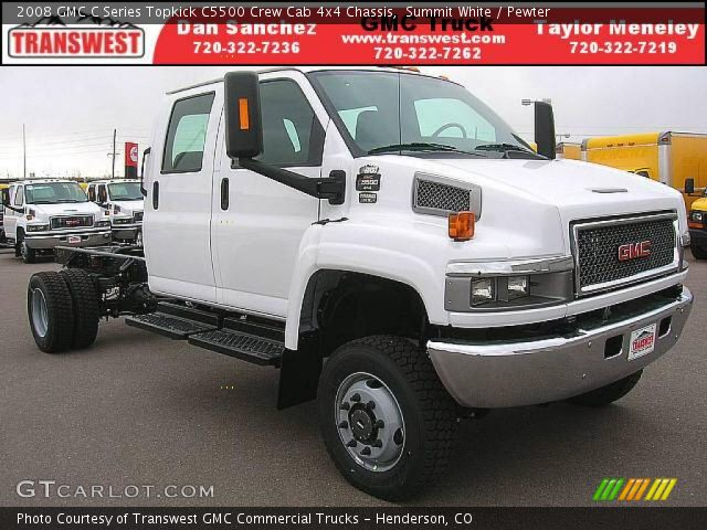 2008 GMC C Series Topkick C5500 Crew Cab 4x4 Chassis in Summit White