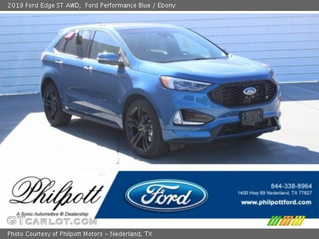2019 Ford Edge ST AWD in Ford Performance Blue