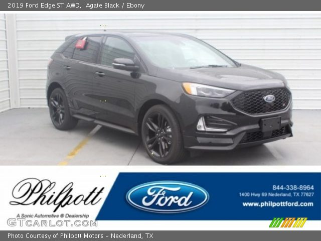 2019 Ford Edge ST AWD in Agate Black