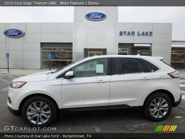 2019 Ford Edge Titanium AWD in White Platinum