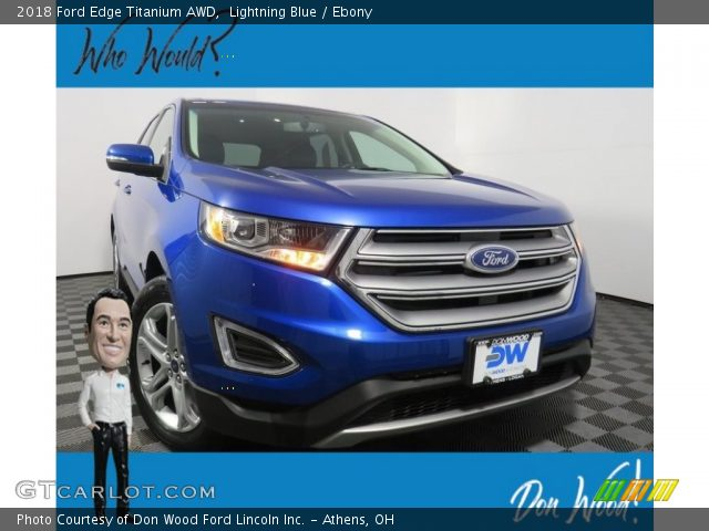 2018 Ford Edge Titanium AWD in Lightning Blue