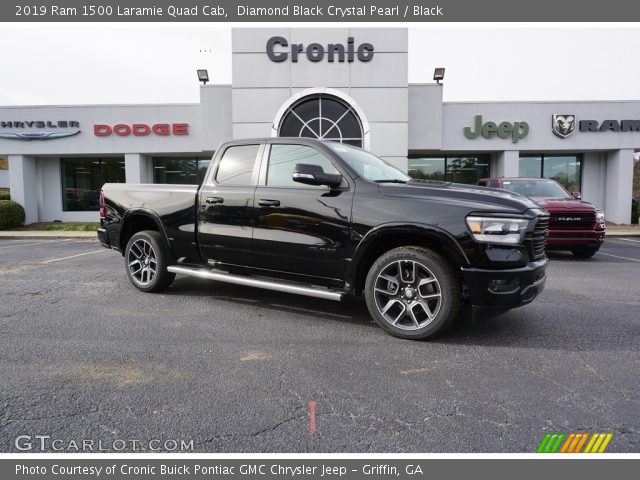 2019 Ram 1500 Laramie Quad Cab in Diamond Black Crystal Pearl