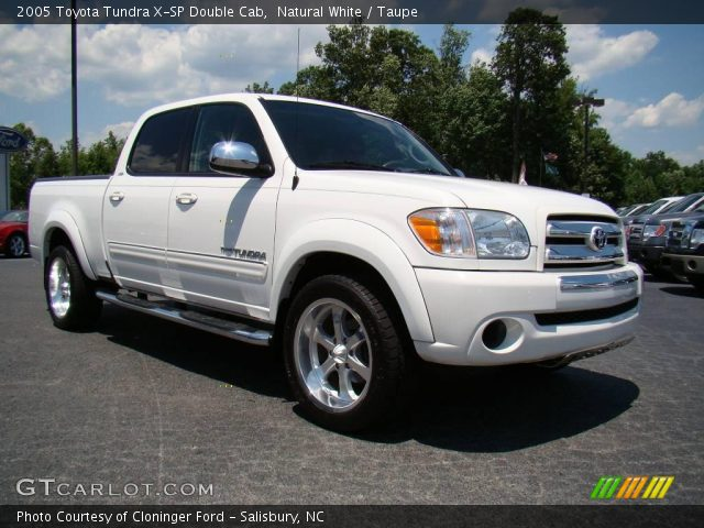 natural white 2005 toyota tundra x sp double cab taupe interior vehicle. Black Bedroom Furniture Sets. Home Design Ideas