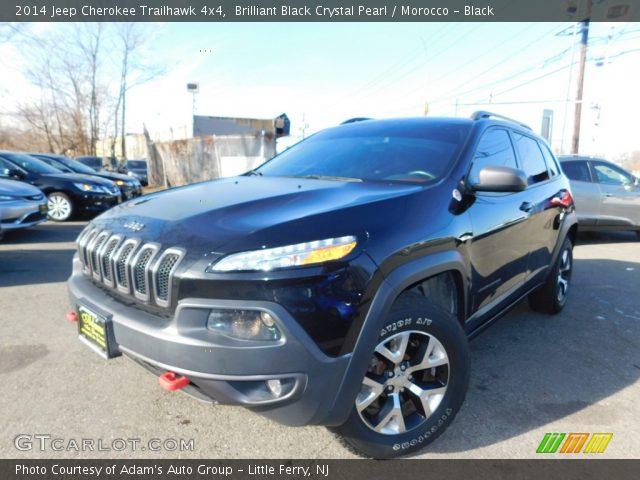 2014 Jeep Cherokee Trailhawk 4x4 in Brilliant Black Crystal Pearl
