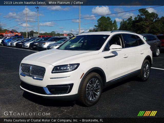 2019 Lincoln Nautilus Select in White Platinum
