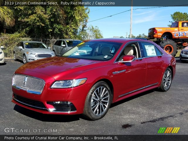 2019 Lincoln Continental Select in Ruby Red Metallic