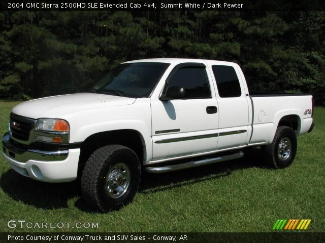 summit white 2004 gmc sierra 2500hd sle extended cab 4x4. Black Bedroom Furniture Sets. Home Design Ideas