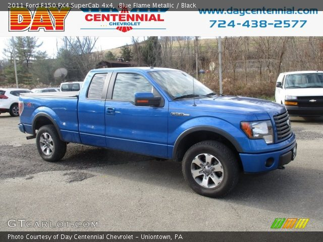 2011 Ford F150 FX4 SuperCab 4x4 in Blue Flame Metallic