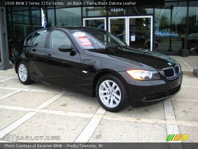 jet black 2006 bmw 3 series 325xi sedan terra black dakota leather interior. Black Bedroom Furniture Sets. Home Design Ideas