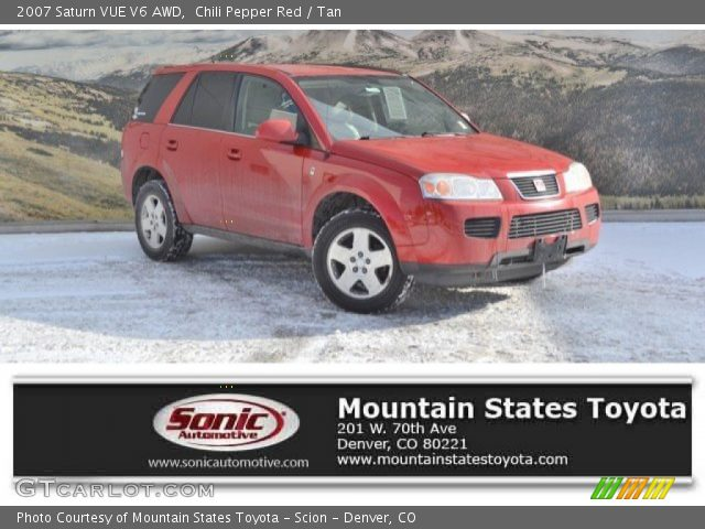 2007 Saturn VUE V6 AWD in Chili Pepper Red