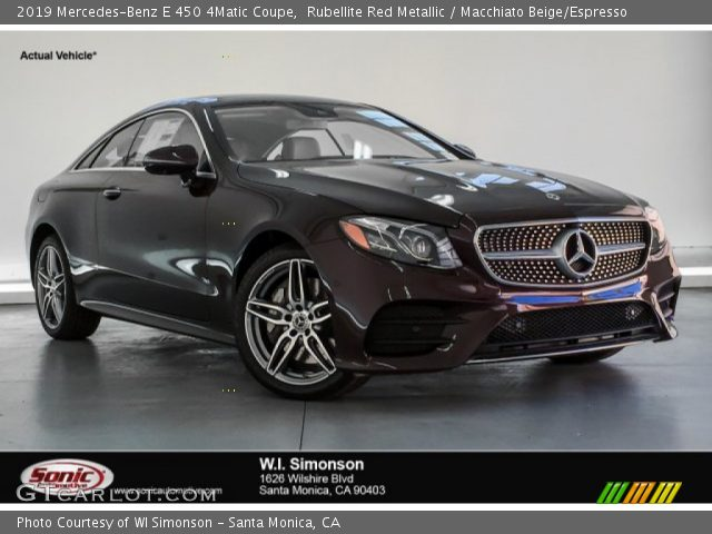 2019 Mercedes-Benz E 450 4Matic Coupe in Rubellite Red Metallic