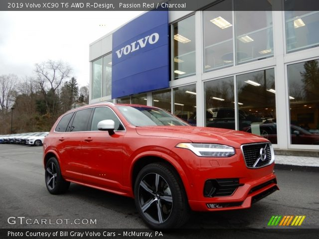 2019 Volvo XC90 T6 AWD R-Design in Passion Red