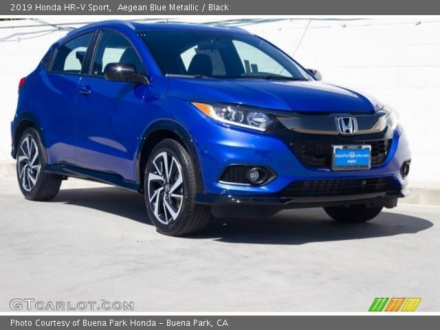 2019 Honda HR-V Sport in Aegean Blue Metallic