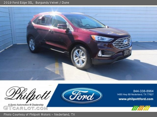 2019 Ford Edge SEL in Burgundy Velvet
