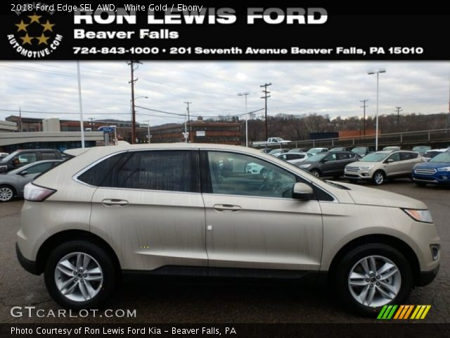 2018 Ford Edge SEL AWD in White Gold