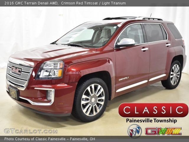 2016 GMC Terrain Denali AWD in Crimson Red Tintcoat