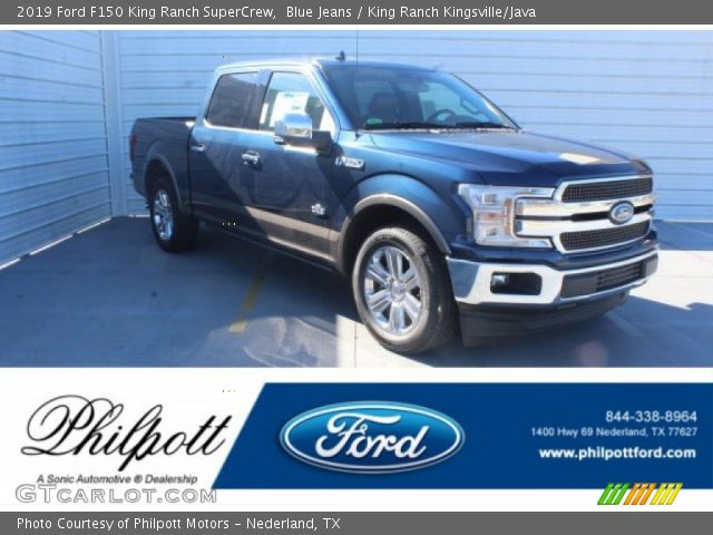 2019 Ford F150 King Ranch SuperCrew in Blue Jeans