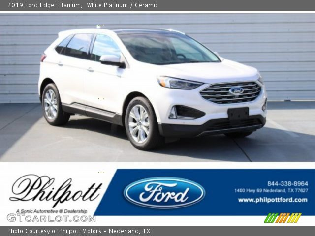 2019 Ford Edge Titanium in White Platinum