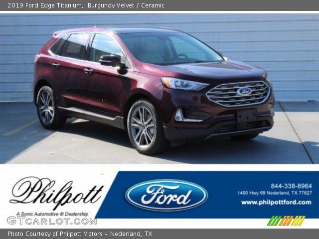 2019 Ford Edge Titanium in Burgundy Velvet