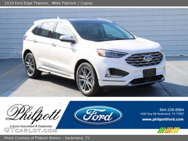 2019 Ford Edge Titanium in White Platinum
